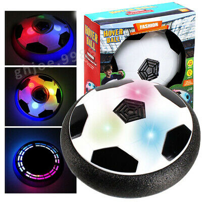 Indoor LED Hover Ball Air Power Floating Soccer Light Up Football Disc Xmas Toys