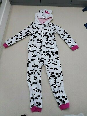 John Lewis Girls Dalmatian One piece ,all in one pyjamas  Age 12 Excellent Cond.