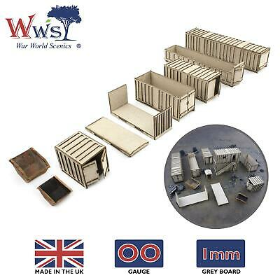 WWS OO Gauge Shipping Containers – Model Railway 00 Railroad Diorama Landscape