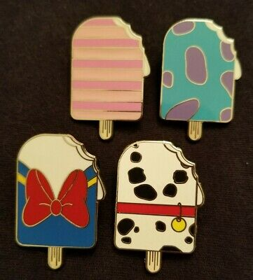Disney Trading Pin 2018 Character Ice Cream Popsicle Mystery Pack set of 4