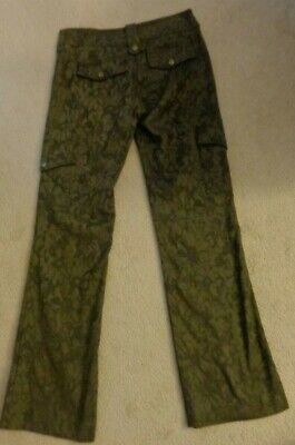 💗Cache Olive Green Gorgeous Fabric Stretch Cargo Pant w/Snap Pockets  *Sz 4*
