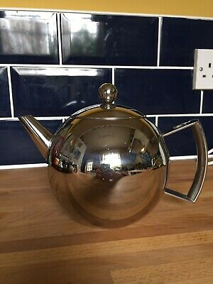 JOHN LEWIS Iconic Art Deco Style Metal Teapot With Infuser