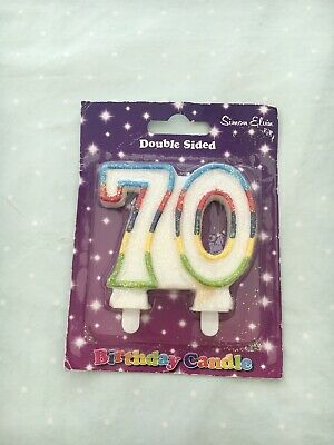 Double Sided 70 Birthday Candle