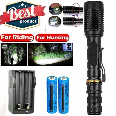 990000Lumen High Power Military Grade LED Tactical Flashlight Torch Lamp+Charger