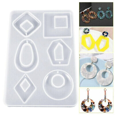 Silicone Earring Pendant Necklace Mould Resin Casting Molds Jewelry Making 13CA