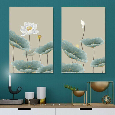 Lotus Flower Canvas Poster Living Room Picture Wall Hangings Home Decor Unframed