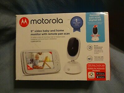 "Motorola 5"" Video Baby Monitor with Remote Pan Scan . Baby Camera, Baby Watcher"