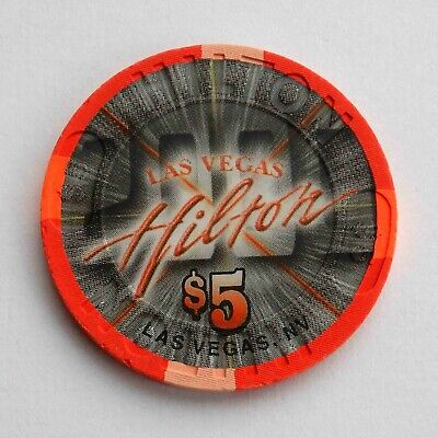 Vintage $5 chip from the Las Vegas Hilton Casino (1999) Las Vegas
