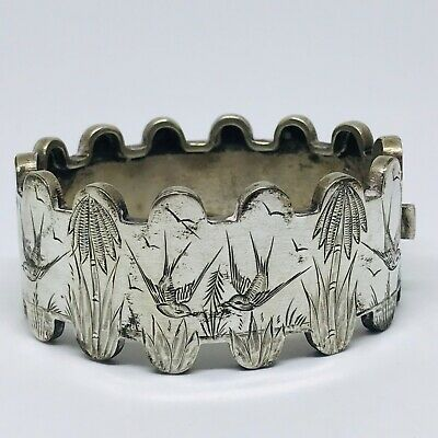 Antique Victorian silver plated aesthetic bangle