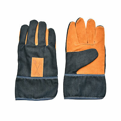 Gardening Pruning DIY Gloves Denim with Faux Leather Garden Work Unisex