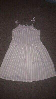 Girls pink striped dress from H&M age 8-10 years
