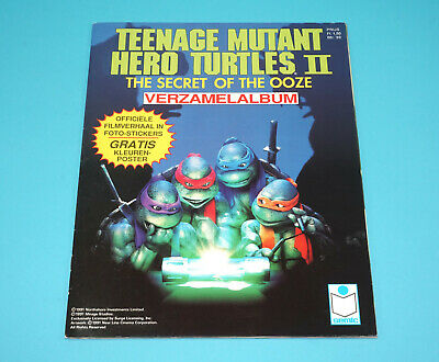 Tmnt Teenage Mutant Ninja Turtles Hero Ii Sticker Album Dutch 100% Semic Holland