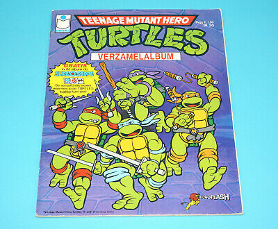 Tmnt Teenage Mutant Ninja Turtles Hero Picture Sticker Album Nl Dutch 100% Semic
