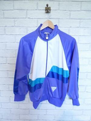 Mens Vintage Tracksuit Jacket Top Festival Windbreaker 80s/90s Small #D5689
