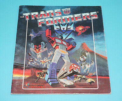 Transformers G1 Panini Figurini Picture Album 100% Complete 1986 Holland Htf