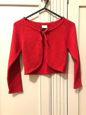 Next Girls Red Shrug Cardigan Age 4 5 Years With Sparkle!