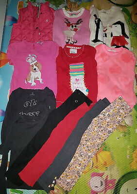 Girls 5-6 Years large Bundle of 12 items Christmas jumpers, Joules, Next,H&M,etc