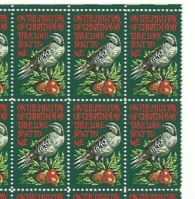 """Mint 49 year old US Scott #1445 8 cent 1971 """"Christmas Partridge """" 30 stamps NH"""