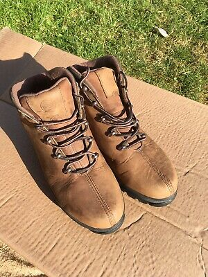 Timberland safetyboots Workboots size 9 Euro 44 brown leather