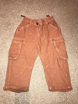 Girls linen mix 3/4 length trousers from Next in size 8 years