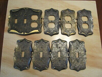 Vintage Amerock Brass Carriage House switch and outlet coverplates lot of 6