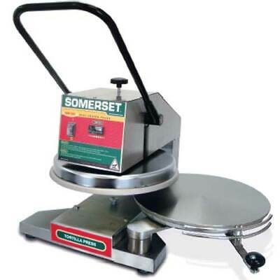Somerset SDP-850 Pizza or Bread or Tortilla Dough Press, Manual Operation, Dual