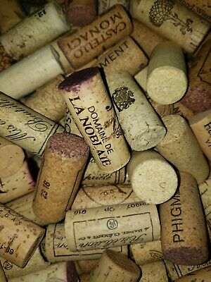 100 Used Wine Corks- Recycled / Used / Upcycled- Great Crafting Condition!