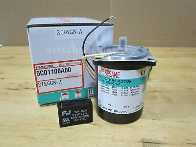 Sesame 2IK6GN-ATs Induction Motor 6W//1PH//110V//4P Small Box