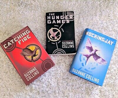 The Hunger Games Book Set by Suzanne Collins Catching Fire Mockinjay *TRILOGY*