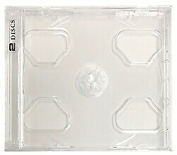 10.4mm Standard Clear Double 2 Discs CD Jewel Case (Smart Tray)