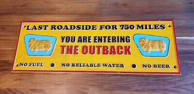 """Golden Fleece """"THE OUTBACK"""" Cast Iron Sign Mancave Bar Shed Rustic Vintage Style"""