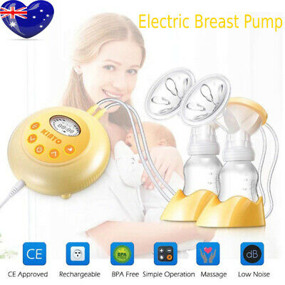 KINYO Double Electric Breast Pump Portable Automatic Baby Feeder With LCD DI