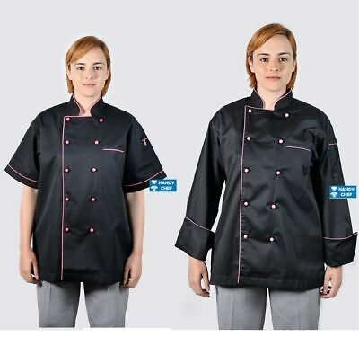 Pink Chef Jacket + Chef Pant -See Ebay Store Chef for Chef Aprons, Chef Caps.,,,