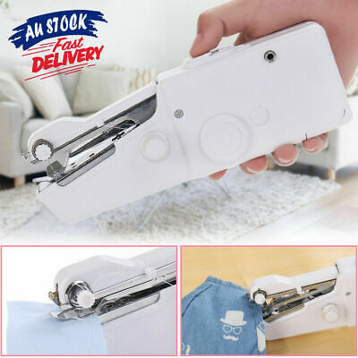 Mini Portable OZ Stitch Home Handheld Hand Held Cordless Clothes Sewing Machine