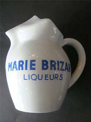 Vintage French Advertising Jug  Blue Pottery 'MARIE BRIZARD LIQUEURS ' 1970's
