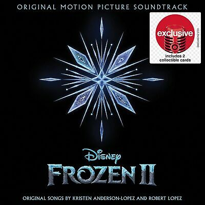 Frozen 2 II Soundtrack OMPS CD with 2 Target Exclusive Collectible Cards