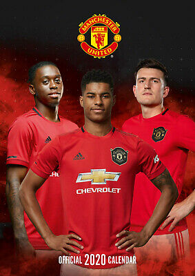 Manchester United FC Official 2020 (New Sealed A3 Wall Calendar)
