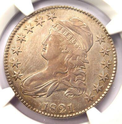 1821 Capped Bust Half Dollar 50C Coin - Certified NGC XF Details - Rare Date!