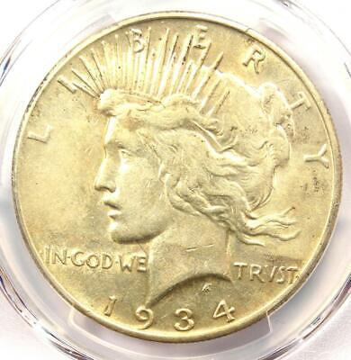 1934-S Peace Silver Dollar $1 Coin - Certified PCGS XF40 (EF40) - Rare Date!