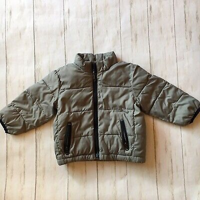 Baby Gap Toddler Infant Boys 18-24 Months Gray Lightweight Puffer Zip Jacket