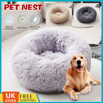 Comfy Luxury Shag Warm Fluffy Pet Bed Dog Puppy Cat Nest Fur Donut Cushion Mat