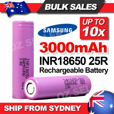 For Samsung Genuine 18650 Rechargeable Lithium Battery 3000mAh Li-ion Batteries