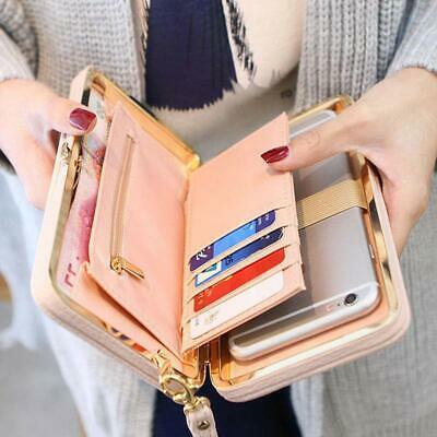 Women Lady 1PC PU Leather Clutch Wallet Long Card Holder Purse Box Handbag Bag
