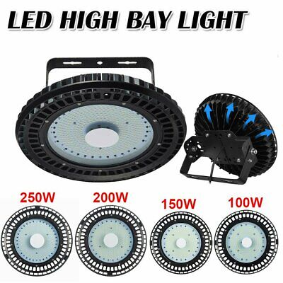 UFO LED High Bay Light 100/150/200/250W Factory Warehouse Gym Garage Lighting UK