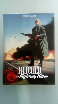 The Hitcher  Rutger Hauer (Blu ray+DVD  Media Book uncut version New & Sealed