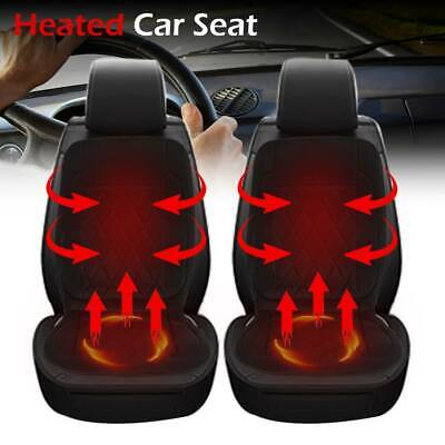 2pcs 12V Universal Car Front Seat Heated Cushion Pad Cover Heating Heater Warmer