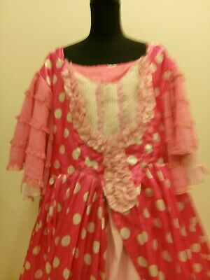 """Pantomime Dame Costume .Large 46""""chest pink underskirt."""