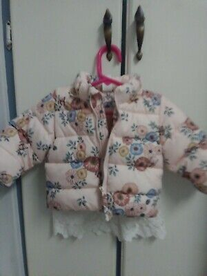H&M Girls insulated jacket by and detachable hoodie size 3 to 6 months coat