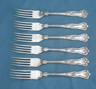 Vintage A1 Ashberry Silver Plate Dinner Forks X 6 Kings Pattern Epns