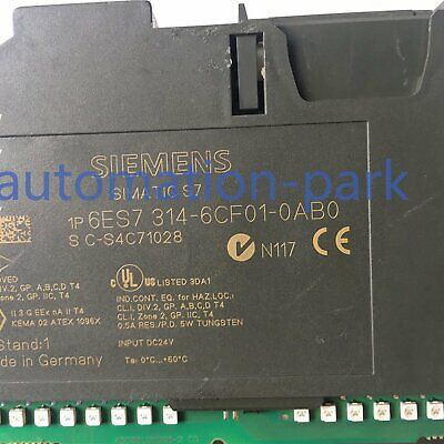 Used SIEMENS 6ES7314-6CF01-0AB0 6ES73146CF010AB0 Tested In Good Condition